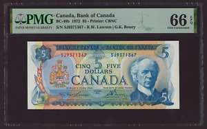 Canada 🇨🇦 1972 - $5 Dollars - PMG GEM UNC 66 EPQ ***HIGH GRADE***