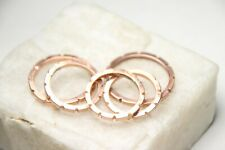 Copper Solid handmade Carved Ring band Custom Size 10 Gear Handcrafted NWT
