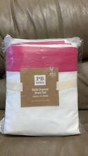 NEW Pottery Barn Teen Suite Organic King Sheet Set Pink Magenta Pink