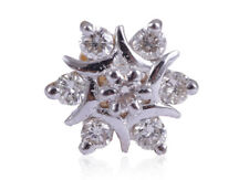 Classy 0.17 Cts Round Brilliant Cut Diamonds Nose Stud In Fine Hallmark 18K Gold