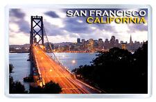 SAN FRANCISCO CALIFORNIA BAY BRIDGE FRIDGE MAGNET SOUVENIR IMAN NEVERA