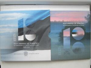 Estonia Estonia 2018 KMs, Euro set, 100 years Republic BU, VERY RARE