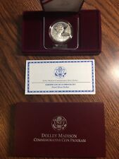 1999 Dolley Madison Proof Silver Dollar- Mint PKG & COA