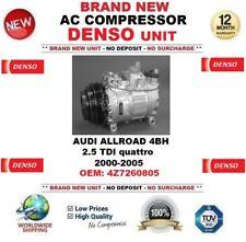 DENSO COMPRESSORE AC AUDI ALLROAD 4BH 2.5 TDI quattro 2000-2005 OEM :4Z7260805