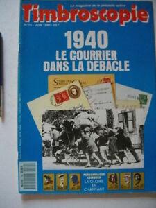 Magazine de la philatélie: Timbroscopie: no. 70 1990 les personnages célèbres