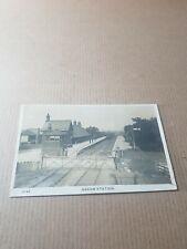 More details for old rp postcard. cumberland.   askam railway station.   l/3187