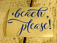Custom Beach Vinyl Decal for Stainless Tumblers, Coffee Travel Cups, Thermal Mug