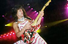 EDDIE VAN HALEN Striped Frankenstrat EVH Guitar Original 12x18 Photo Photograph
