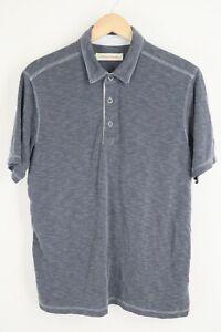 Tommy Bahama Mens sz Large Grey Parasido Polo Short Sleeve Shirt