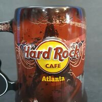 Hard Rock Cafe Atlanta Souvenir Mug Guitar Handle Love All Serve All