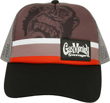 Gas Monkey Garage Cap Striped Trucker Grey