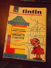 le journal de TINTIN N°916 de 1966 - SPAGHETTI COMEDIEN