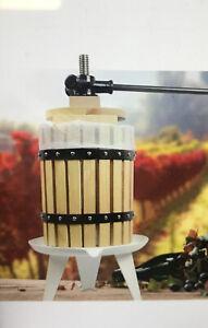 Fruit Wine Press 4.75 Gallon Solid Wood Basket Cider Press Apple Berries Press