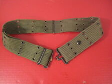 post-WWII US Army/USMC M1936 Pistol Web Belt OD Green Color - Dated 1957