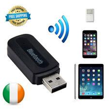 Bluetooth Receiver 3.5mm Aux Car Adaptor Handsfree Wireless Phone Music USB UK