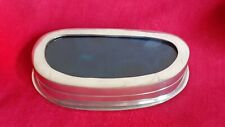 Antique old collectible rare box tin blue stone agate on the lid