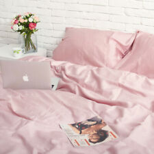 Natural Cotton Satin Duvet Cover in Rose Gold Twin Full Queen King Custom Size