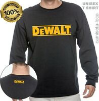 DEWALT LOGO LONG SLEEVE T-SHIRT - USA CONSTRUCTION, HANDYMAN WORKER