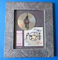 POE SIGNED FRAMED DISPLAY WITH CONCERT TICKET, CD ~ ANNE DANIELEWSKI