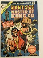 Giant Size Master of Kung Fu #1 1st appearance of Ducharme 1974 Low/mid Grade