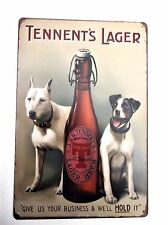 TENNENTS LAGER METAL TIN SIGNS pub bar garage retro kitchen beer lager