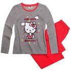 SANRIO pyjama HELLO KITTY 4 6 ou 8 ans gris rouge NEUF