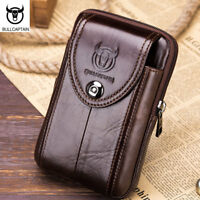 Men's Hi-Q Leather Fanny Waist Bag Cell/Mobile Phone Purse Pocket Belt Bum Pack