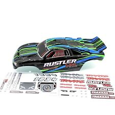 Traxxas Rustler Truck Body Wing Black Green Blue Painted VXL XL5
