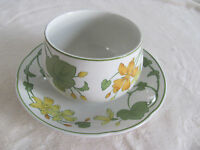 Villeroy & Boch -Geranium- Campagna Shape- Gravy Boat with Attached Underplate
