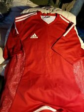 Adidas red netting Climacool jersey large