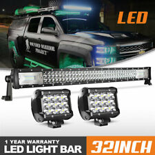 "32"" Inch 405W LED Light Work Bar Lens Combo Truck Fog Lamp For Ford Ranger"