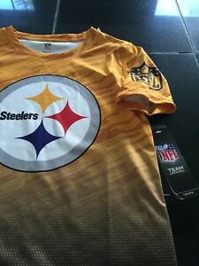 BOYS/GIRLS YOUTH NFL PITTSBURGH STEELERS SHORT SLEEVE SHIRT S SMALL 8 NWT