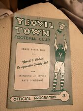 Yeovil  town   v  Frome 11.4.1959...9 v 0 score
