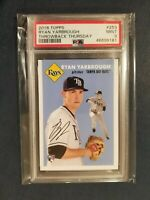2018 Topps Throwback Thursday 1954 RYAN YARBROUGH RC Rays Rookie #253 PSA 9 Mint