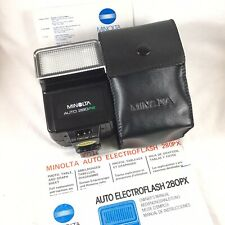 MINOLTA AUTO ELECTROFLASH 280PX With Original Case & Owners Manual MADE IN JAPAN