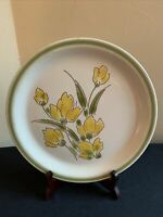 Vintage SPRING COLLECTION STONEWARE Stonybrook Japan Dinner Plate-Yellow Tulips