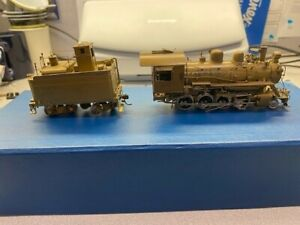 ALCO HO brass locomotive w/tender, SP C-15 2-8-0, as is, has loose eccent. crank