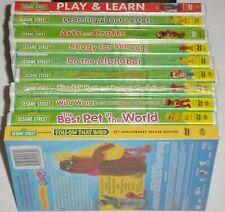 Kid DVD Lot of 10 - Sesame Street Lot (10 New DVDs) Bert Ernie Big Bird Learning