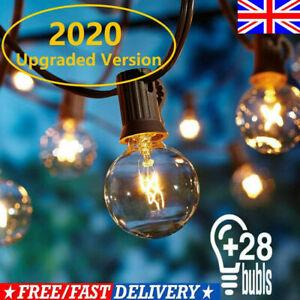 25FT Garden Patio Festoon String Lights 28 G40 Bulb Indoor/Outdoor Garden Decor