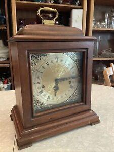WORKS!! Vintage Howard Miller 1050-020 Triple Chime Wood Mantel Clock