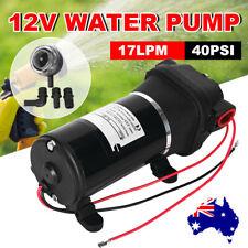 12V Water Pump 17LPM Self-Priming 40PSI High Pressure for Caravan Camping Boat