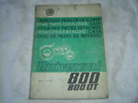1979 Universal UTB 800 800DT tractor parts catalog book manual