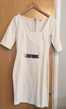 River Island Cream Belted Dress Size 10 *12