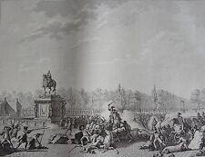 Les Bustes de Mrs D'Orleans et Necker place Louis XV, REVOLUTION FRANCAISE,1794