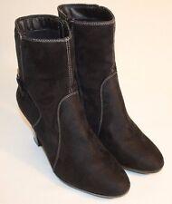 Pesaro Womens Ladies Black Fabric Ankle Fashion Boots Heels Size 9M