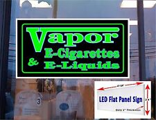 Vapor E- Cigarette E-liquids LED window sign 48x24 banner neon altern.