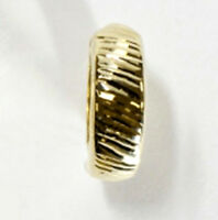 ECHT GOLD *** Herren Single-Creole Ohrring gestreift diamantiert 15 mm