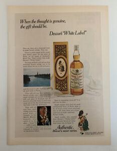 1972 Dewar's White Label Scotch Whisky Print Ad Authentic Dewar's Never Varies