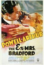 THE EX-MRS. BRADFORD Movie POSTER 27x40 William Powell Jean Arthur James Gleason