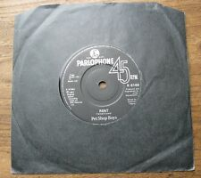 "VG+ PET SHOP BOYS - Rent / I want a dog - VG+ orig. Parlophone 7"" single 1987"